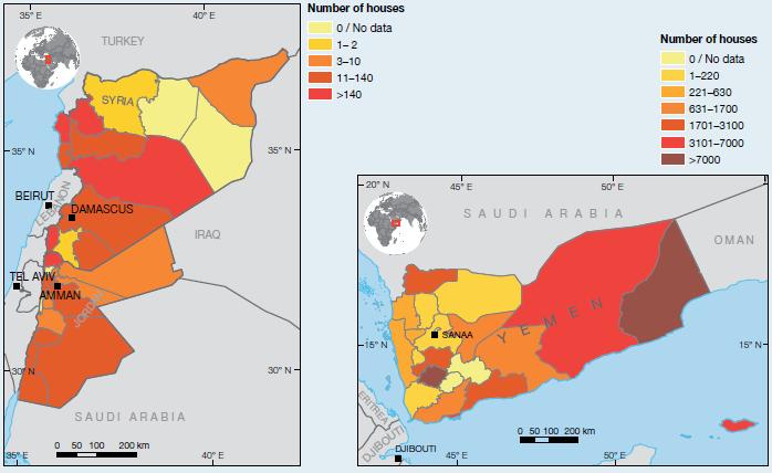 Map of jordan with climate geography in jordan umm al dami national gar 2011 extensive disaster risk trends map of jordan with climate on geography in jordan gumiabroncs Images