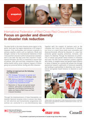IFRC snapshot: Focus on gender and diversity in disaster risk reduction