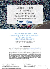 Disaster loss data in monitoring the implementation of the Sendai Framework