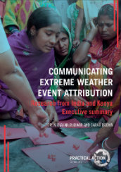 Communicating extreme weather event attribution – Research from India and Kenya