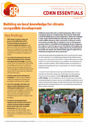 Essential: Building on local knowledge for climate compatible development