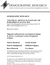 Migration influenced by environmental change in Africa: A systematic review of empirical evidence