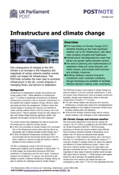 Infrastructure and climate change
