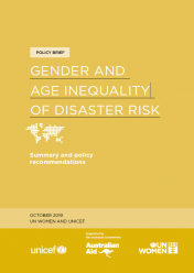 Gender and age inequality of disaster risk
