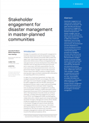 Stakeholder engagement for disaster management in master-planned communities