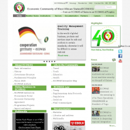 Organization website screenshot