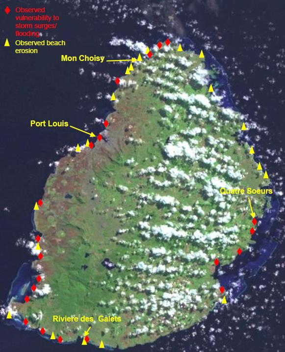 Beach Island: Mauritius Observed Vulnerability To Flooding And Beach